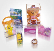 Stamping,Embossing,Glossy Lamination,UV Coating Printing Handling baby pvc toy boxes