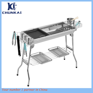 Foldable and Portable Stainless Steel Outdoor BBQ Grill,Charcoal Grill