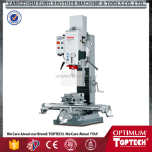 BF30 heavy sturdy premium cast column drilling milling machine with ground and shaven dovetail guides