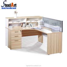 Modular design wooden mdf office cubicle partition