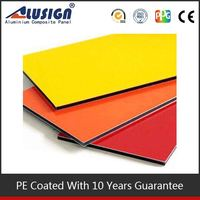 Colors can be customized nice pvdf/pe aluminium composite