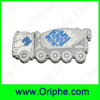 Mixing truck Shape PVC Customized USB Flash Drive(UPVC0004)