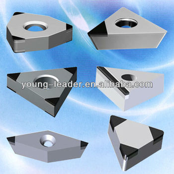 Turning threaded PCBN PCD insert