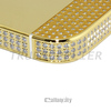 wholesale Luxury 24kt gold side diamond housing with black top and bottom gold housing for iphone 5s 24kt gold plated