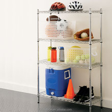 "NSF & ISO Approved Chrome Plated 4-tier 14""*24"" Commercial wire shelving"
