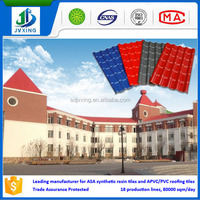 Decorative home/house use fireproof, waterproof, windproof, heat insulation, sound resistant resin roof tiles
