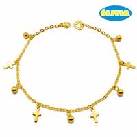 Wholesale fashion body jewelry parts women canadan bracelet chain design anklet
