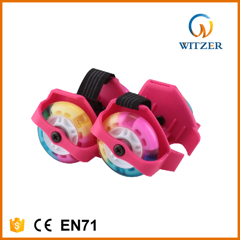 factory inline skate LED lights wheels attached to shoes