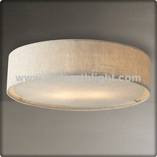 UL CUL Listed Flush Mount Hotel Bedroom Fabric Ceiling Light In 2 Light C30194