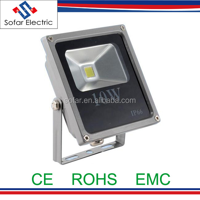 Square Type IP66 Die-casting Aluminum 10W LED Flood Light Outdoor