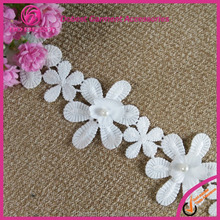 Tiny motif tricot flower lace trimming by Yard for Wedding Dress