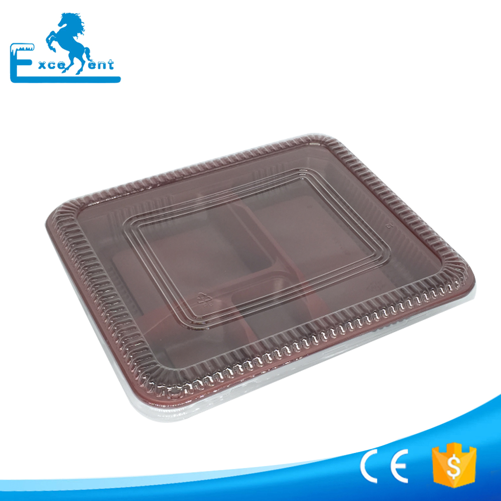 Keep Warm Disposable Plastic Lunch Box with Divider