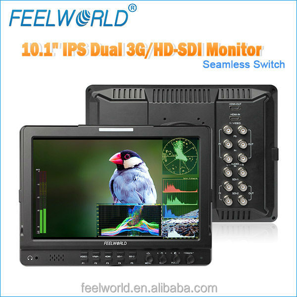 2014 new <strong>10</strong>.1inch field vectorscope monitor with waveform Dual 3G HD SDI hdmi av