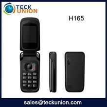 H165 2.0 inch dual sim both active telephone gsm support whatsapp flip phone