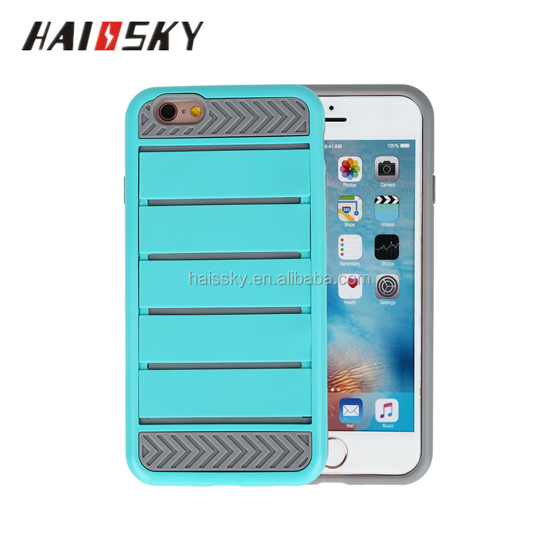 Haissky new arrival TPU+Silicon functional mobile phone case for iphone 7 with money and card slot