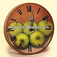 Latest Antique Wall Decorative Apple Shape Clock