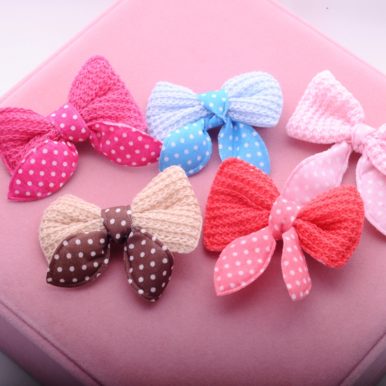 >>>>Sweet Solid Print Bow Elastic Hair ropes Kids Hair clip Adorable Ponytail Holder Hair Accessories