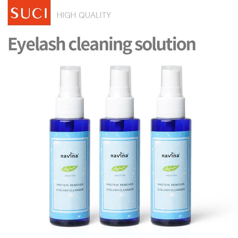 Oil free eye makeup remover for eyelash extensions