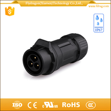 Plastic 3 poles round types cable joints 3 way brass hose pin xlr speakon audio plug connector