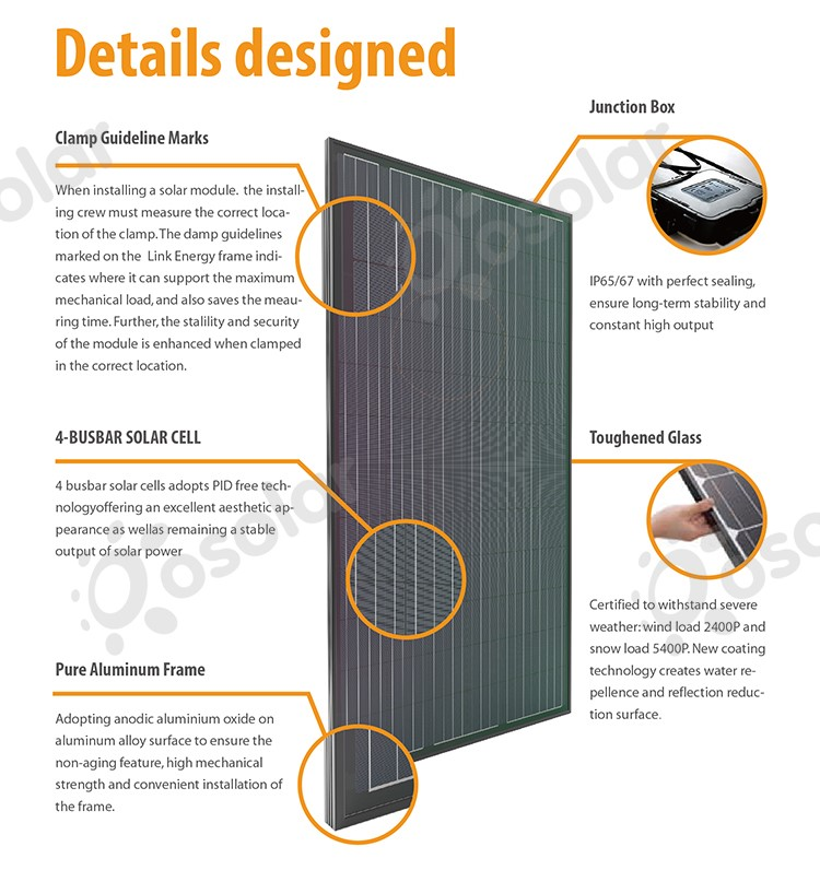 silicon solar plate 6x10 cells photovoltaic 270w 260w solar panel