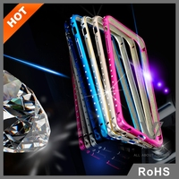 3D Luxury Crystal Diamond Bling Metal Case Cover Bumper For iPhone 6/ 6 Plus