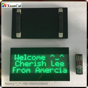Multilines Hand Holding Airport Train Bus Station Rechargeable Battery Electronics LED Placard Displays