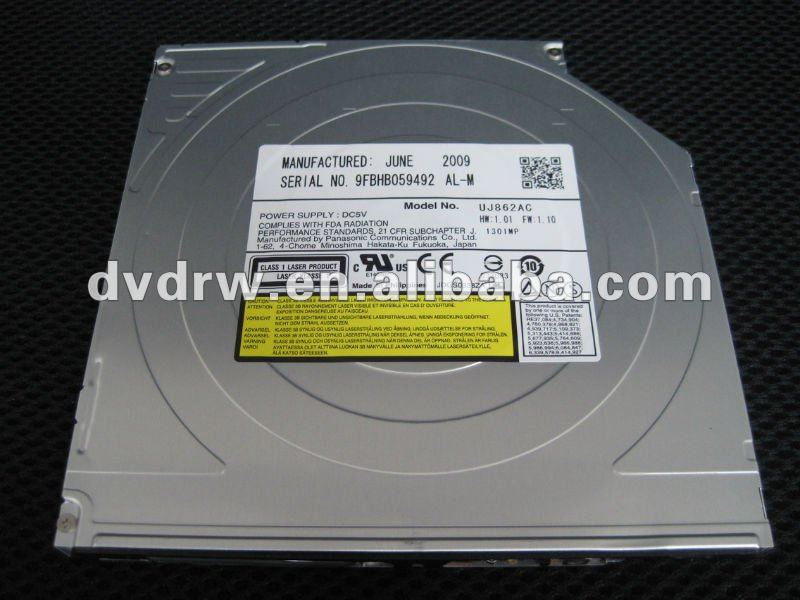 UJ862 UJ-862 notebook spare parts 9.5mm Ultra Slim IDE DVD Burner UJ-862
