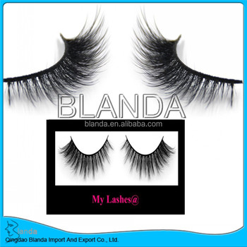 3D volume eyelash silk eyelashes, 3D synthetic mink lashes, 3D Fake mink lashes