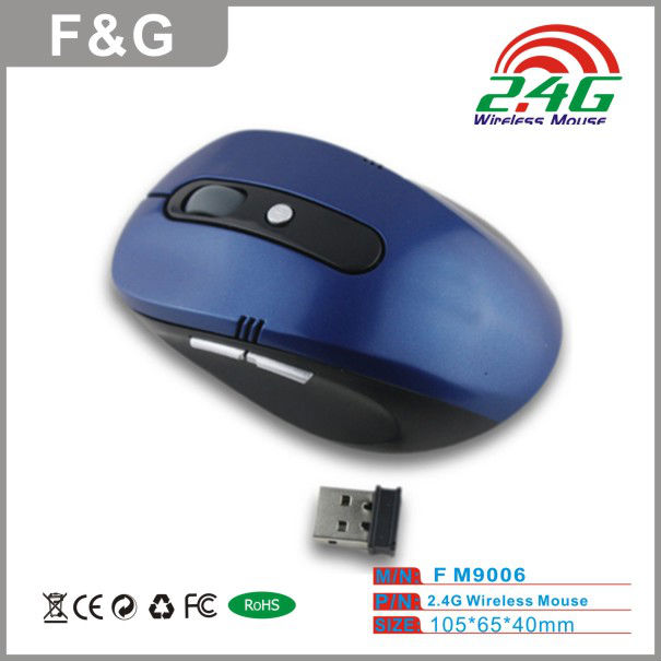 Hot Selling cpi resolution 2.4g wireless mouse With Mini Receiver