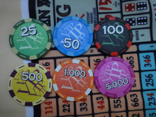 poker chip with tournament vip