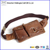 mens leather travel sport wallet passport pack belt zip pouch waist bum bag