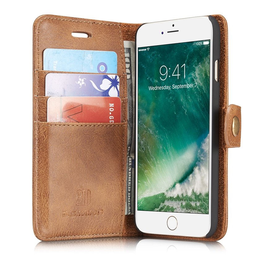 Newest Design Fashion 2 in1 Filp Stand Wallet PU Cell Phone Case for iPhone 7 CA2563