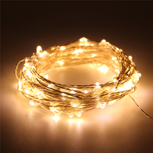 Remote control battery operated guangzhou fairy curtain copper wire solar Christmas string light battery pack