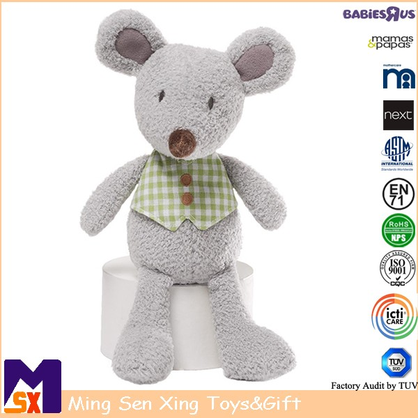 Plush toy factory custom soft stuffed mouse doll for kids