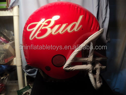 Factory Inflatable Bud Football Helmet , Air football helmet