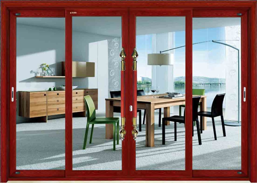 resisting wind load stable sliding door with hyper-energy