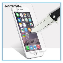 China 2017 New Products Full Cover 9H Screen Protector Tempered Glass Protective Film for iPhone 6 6S