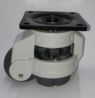 Level adjustable caster wheels