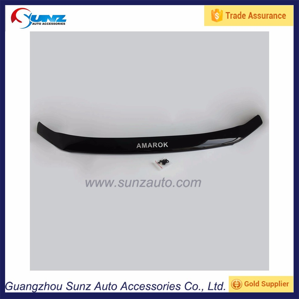 For VW Amarok 2014 4x4 Acrylic Sheet Material Black Bonnet Guards Front Protector Bumper