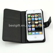 PU Leather Wallet Card Case For Iphone 5