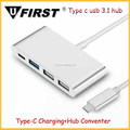 Newest design USB HUB 3.1 Type C PD charger adapter 4 ports for Apple Macbook 12""