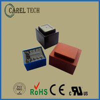 CE ROHS UL VDE approved 220V 12V 3VA EI35 encapsulated transformer with 2-year product warranty