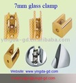 glass shelf clamp for 0-7mm thick glass or wood panel