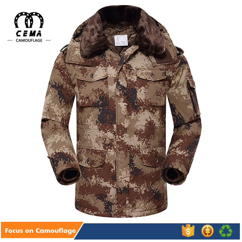 Mens cheap windproof new style military camouflage winter coat