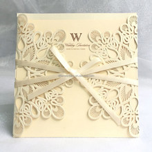 White gold wholesale pocket fold invitations,wedding invitations made in china
