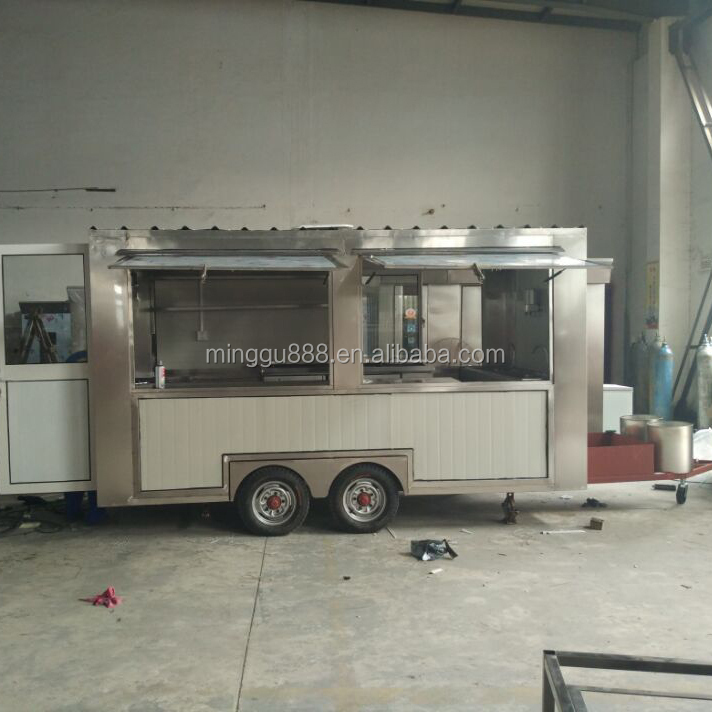 CE OEM gas/electric mobile BIKE street fast food BBQ vending trailer/carts pancake truck/kitchen coffee van/kiosk for sale