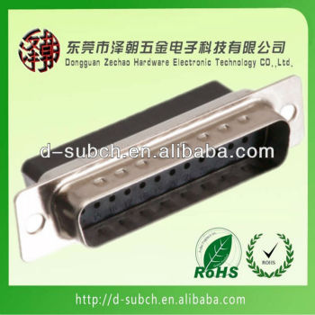 d-sub connector DB 25P Male crimp connector
