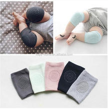 High quality baby leg warmers knee pads / solid color cotton knitted baby crawling knee pads