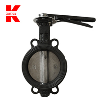 4 inch dn200 stainless steel wafer cast iron lug butterfly valve handles
