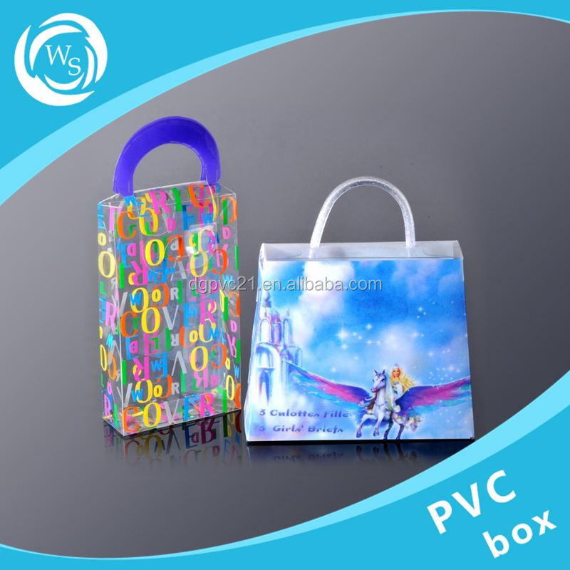 OEM Plastic PVC box clear pvc box factory products packaging fold box